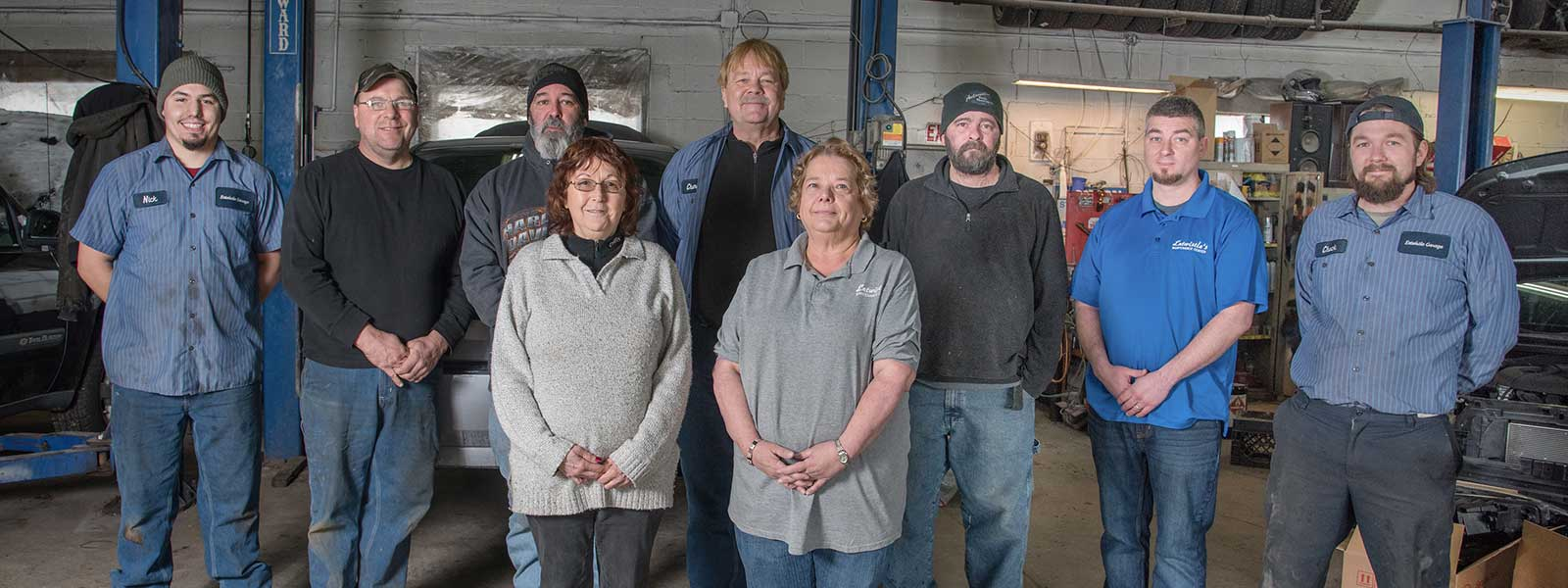Auto Mechanics and staff at Entwistle's Garage - Auto Repair in Leicester, MA